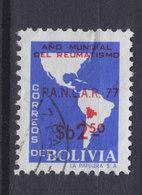 Bolivia 1978 Mi. 941     2.50 P Rheumatismus Rheumatism Bekämpfungskampagne Map Landkarte - Bolivien