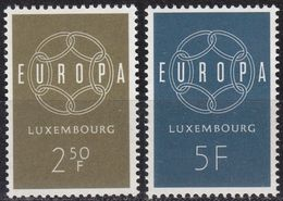 LUXEMBURG LUXEMBOURG [1959] MiNr 0609-10 ( **/mnh ) CEPT - Luxemburg