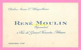 CARTE DE VISITE  De Charbons Maison L.ALLAINGUILLAUME , René  MOULIN  Representant  ALENCON - Visiting Cards