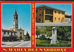SALUTI DA SANTA MARIA DEI SABBIONI (CR) - CHIESA DI S. MARIA - VIAGGIATA 1977 - Saluti Da.../ Gruss Aus...