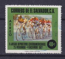 El Salvador 1977 Mi. 1235     40 C Zentralamerikanische Sportspiele, San Salvador Radfahren Bicycling - El Salvador