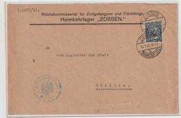 Dienstbrief Aus Dem Heimkehrlager Zossen (1922) - Dienstpost