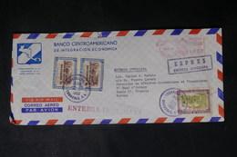 HONDURAS - Enveloppe Commerciale En Exprès Pour La France En 1966, Affranchissement Plaisant - L 39196 - Honduras