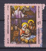El Salvador 1978 Mi. 1269     1 Col Weihnachten Christmas Jul Noel Natale Navidad Glasmalerei Geburt Christi - El Salvador