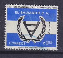 El Salvador 1981 Mi. 1355     1 Col Internationales Jahr Der Behinderten - El Salvador