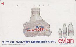 Télécarte Japon / 110-011 - Boisson - EAU MINERALE  EVIAN FRANCE - Water DRINK Adv. Japan Phonecard - WASSER - 54 - Publicité