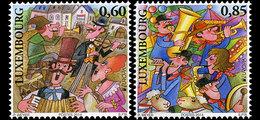 LUXEMBOURG 1950/52 Europe, élection, Europa, Musique, Accordeon, Violon, Saxophone - Europa-CEPT