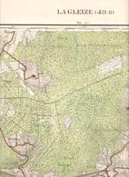 LA GLEIZE STOUMONT TROIS-PONTS COO BORGOUMONT.....carte Militaire 1932 - Cartes Géographiques