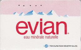 Télécarte Japon / 110-011 - Boisson - EAU MINERALE  EVIAN FRANCE - Water DRINK Adv. Japan Phonecard - WASSER - 57 - Publicité