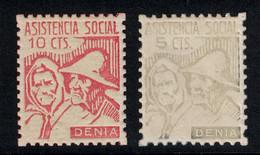 ESPAGNE SPAIN - GUERRA CIVIL Viñetas ASISTENCIA SOCIAL DENIA - Vignetten Van De Burgeroorlog