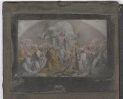 Plaque De Verre Illustrée Et Coloriée à La Main Pour Lanterne Magique - Résurection - 8,5 X 10 Cm - Plaques De Verre