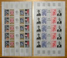 LOT De 2 FEUILLES Avec TIMBRES NEUF ** N° 1417A PHILATEC 1964 + N° 1698A HOMMAGE AU GÉNÉRAL DE GAULLE - Full Sheets