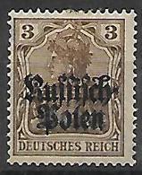 GERMANIA OCCUPAZIONE TEDESCA 1915 DELLA POLONIA  UNIF. 1 MLH VF - Occupazione 1914 – 18