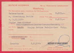 247551 / Document 1960 - Abrechnung , DEUTSCHE NOTEBANK Dresden , Germany Allemagne Deutschland - Allemagne