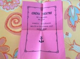 Cinéma Théâtre De L'arsenal De L'est Programme 1937 - Programs