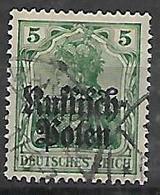 GERMANIA OCCUPAZIONE TEDESCA 1915 DELLA POLONIA  UNIF. 2  USATO VF - Occupazione 1914 – 18