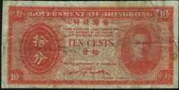 HONG KONG - 10 Cents Nd.(1945) {George VI} VG P.323 - Hongkong