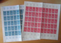 """LOT De 2 FEUILLES COMPLETES De 50 TIMBRES NEUF ** """" EUROPA """" N° 1490 1491 TB - Full Sheets"""