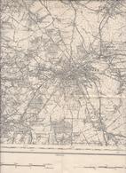 Nivelles Arquennes Clabecq Tubize Feluy Waterloo Braine Le Comte Le Château & L'Alleud Baulers Carte Militaire 1910 - Cartes Géographiques