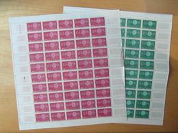 """LOT De 2 FEUILLES COMPLETES De 50 TIMBRES N° 1266 & 1267 NEUF ** """" EUROPA """" De 1960 - Full Sheets"""