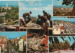 SALUTI DA S. BENEDETTO DEL TRONTO-VIAGGIATA -F.G - Ascoli Piceno