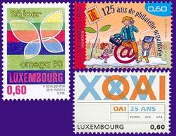 LUXEMBOURG 1975/77 Anniversaires, Informatique, Papillon - Luxemburg