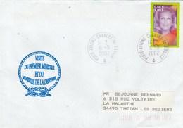 Visite Du Premier Ministre Et Du Ministre De La Défense Cachet Porte Avions Charles De Gaulle 16/9/2002 - Storia Postale