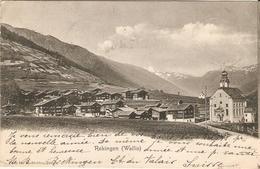 Cpa Précurseur De Suisse, Valais / Wallis, Rekingen, Union Postale Universelle, Photo Dr Stebler Zurich - VS Valais