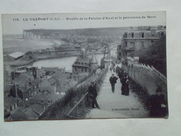 Carte Postale  - LE TREPORT (76) - Montée De La Falaise D'Aval Et Panorama De Mers (3139) - Le Treport