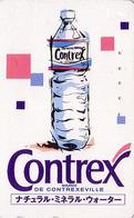 Télécarte Japon / 110-011 - Boisson - EAU MINERALE  CONTREX Contrexeville FRANCE - Water DRINK Adv. Japan Phonecard - 62 - Publicité