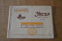 """Carnet Complet De 20 CPA Détachables - IEPER YPRES - Guerre 1914-18 """"Avant Et Après"""" 2eme Série +1 Carte Postale Offerte - Ieper"""