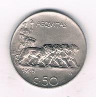 50 CENTESIMI 1925 R ITALIE/ 6157// - 1861-1946 : Royaume