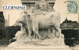 CPA -  PARIS -  MOMUMENT PASTEUR - MOTIF DU SOUBASSEMENT (1) - Statues
