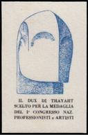 ITALIA - Erinnofilo - MUSSOLINI - DUX Di Thayaht - Azzurro (FUTURISMO) - Erinnofilia