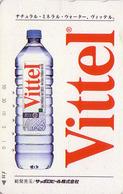 Télécarte Japon / 110-016 - Boisson - EAU MINERALE VITTEL FRANCE - Water DRINK Adv. Japan Phonecard - WASSER -  64 - Publicité