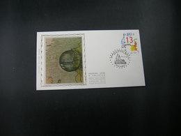 """BELG.1989 2338 FDC Zijde/soie (Amay) : """"  Gemeenschappelijke Uitgifte Met Nederland ,150 Jaar Limburg """" - FDC"""
