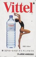Télécarte Japon / 110-011 - Boisson - EAU MINERALE VITTEL FRANCE & Femme Girl - Water DRINK Adv. Japan Phonecard - 65 - Publicité