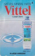Télécarte Japon / 110-011 - Boisson - EAU MINERALE VITTEL FRANCE - Water DRINK Adv. Japan Phonecard - WASSER -  66 - Publicité