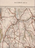 Dalhem Mortroux Richelle Barchon Tignée Cerexhe Heuseux Melen Housse Saive Feneur Trembleur  Carte Militaire 1937 - Cartes Géographiques
