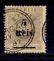 ! ! Macau - 1887 Crown OVP 5r (Perf. 13 1/2) - Af. 24 - Used - Usati