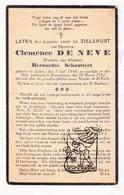 DP Clemence De Neve ° Aalter 1840 † Knesselare 1932 X Bernardus Schautteet - Devotion Images
