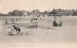 Carte Postale Ancienne De La Somme - Le Crotoy - La Plage à Marée Basse - Le Crotoy