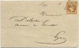 1374) N°13b Type II Lettre De Lyon Du 11 Juillet 1862. 3 Grandes Marges, La 4ème Normale. Belle Pièce - Marcophilie (Lettres)