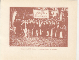 CPA ALBA IULIA- 1918 GREAT UNION, GROUP OF PEOPLE IN FOLKLORE COSTUMES - Roumanie