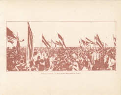 CPA ALBA IULIA- 1918 GREAT UNION, CROWD AT THE NATIONAL ASSEMBLY - Romania