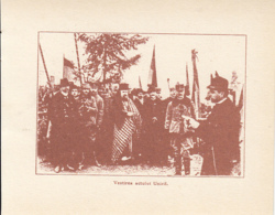 CPA ALBA IULIA- 1918 GREAT UNION, CROWD AT THE NATIONAL ASSEMBLY, THE READING OF THE DECREE - Roumanie