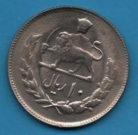 IRAN 10 RIALS 2536 (1977) KM# 1179 Muhammad Reza Pahlavi - Irán