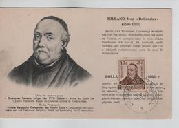 PR6725/ TP 593/600+601 S/C.M./M.K. Antituberculeux Séries 'Les Savants' C.BXL 5/8/1942 - 1934-1951