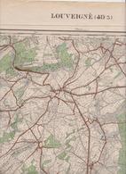 Louveigné Deigné Banneux Aywaille Sougné Remouchamps Nonceveux Florzé Carte Militaire En 1931 - Cartes Géographiques