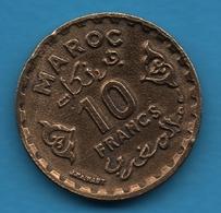 MAROC 10 FRANCS 1371 Y# 49 - Maroc
